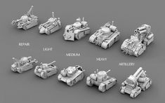 Steam tanks (game project, 2013), Valentin Gritsenko on ArtStation at https://www.artstation.com/artwork/NrkEP