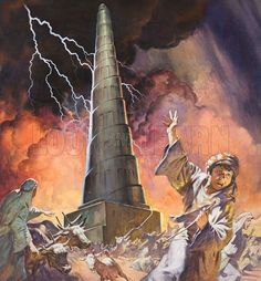 bible art tower of babel - Google Search