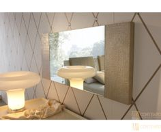 Stylish Design Furniture - Rossetto Ivory Diamond Mirror , $425.99 (http://www.stylishdesignfurniture.com/products/rossetto-ivory-diamond-mirror.html)