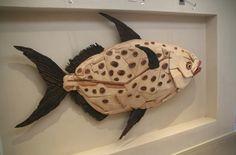 Driftwood Sculpture, Driftwood Art, Wood Fish, Drift Wood, Fish Art, Wood Work, Pallets, Sculptures, Woodworking
