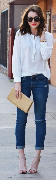 Basic Blue And White Inspiration Outfit