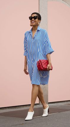 En tant que nova listras queridinhas das fashion girls - Simple Dresses, Casual Dresses, Casual Outfits, Fashion Dresses, Summer Dresses, Fitted Dresses, Outfit Summer, Fall Dresses, Summer Clothes