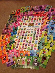 Amiibo Cards Animal Crossing Happy Home Designer 3ds 75 Cards S1 Lot +  BONUS. U0027