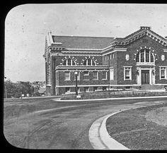 Univerisity of Cincinnati gymnasium :: Cincinnati History Lantern Slides