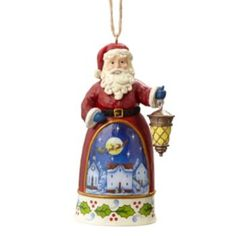 ♥♥♥ JIM SHORE KOHL'S SANTA ORNAMENT WITH TOWN SCENE ♥♥♥