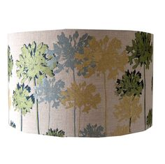 Linen Floral Lampshade