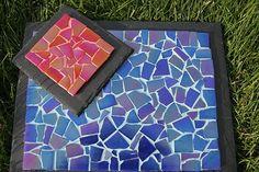 Handmade Mosaic Tablemats, Coasters on Slate on Etsy, £35.00