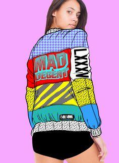 Acid Fashion 90 - MAD DECENT x LXXXV Bomber Jacket Concept. BRISSEAUX | BRISSEAUX
