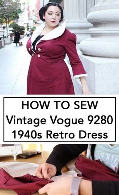 cd663a9119f5 How to Sew Vintage Vogue from the This is a full video walk through on how  to make this vintage reproduction dress.