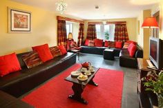 living room decorating ideas with some red!