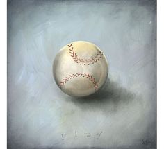Oopsy Daisy Fine Art For Kids Boys Toys - Baseball Canvas Reproduction
