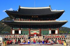 Gyeongbokgung, also known as Gyeongbokgung Palace or Gyeongbok Palace, was the main royal palace of the Joseon dynasty. Built in 1395, it is located in northern Seoul, South Korea. Address: 161 Sajik-ro, Jongno-gu, Seoul, South Korea  http://vacationandtripplanning.blogspot.in/2015/11/7-things-to-do-in-seoul-south-korea.html