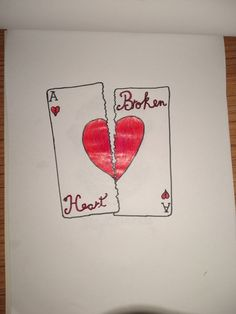 """The card """"broken heart"""" Denim, Create, Heart, Drawings, Cards, Easy Drawings, Sketches, Maps, Drawing"""