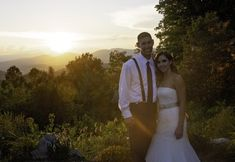 Sunset wedding photos with the Blue Ridge Mountains in the background are literally one of the best things ever Pic taken at the Cabin Ridge, Hendersonville, NC Outdoor Wedding Venues, Wedding Events, Sunset Wedding, Blue Ridge Mountains, Event Venues, Wedding Photos, Cabin, Wedding Dresses, Outdoor Wedding Locations