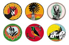 Kiekie images offer a fresh approach to Boere, Botanic & Curio – iconic, funky designs all with an über cool twist to South Africa's legacy! Designed in Stanford, Western Cape, by a talented graphic design duo. African Crafts, African Art, Funky Design, Design Art, Graphic Design, South African Design, African Interior, Out Of Africa, Screen Printing