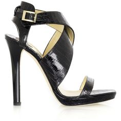 Jimmy Choo Billie lizard-print leather sandals