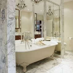 Marble bathroom design appealing marble bathroom with black and white marble floor designs also marble bathroom designs white carrara marble bathroom Blue Bathrooms Designs, Small White Bathrooms, Bathroom Tile Designs, Bathroom Floor Tiles, Bathroom Interior Design, Small Bathroom, Tile Floor, Bathroom Ideas, Marble Floor
