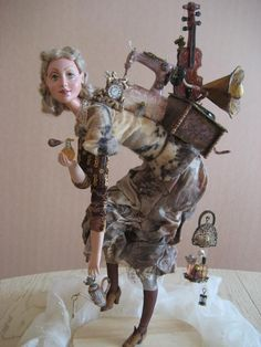 The inspiration for this doll painting by Peter Frolov The Return of the flea market. The doll is not similar to the picture, but I liked Ooak Dolls, Art Dolls, Paper Dolls, Doll Painting, Assemblage Art, Beautiful Dolls, Handmade Art, Altered Art, Sculpture Art