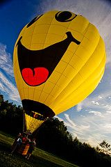 Happy Face Hot Air Balloon