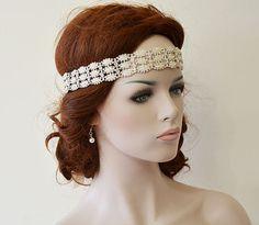 Bridal Headband Wedding Rhinestone and Pearl  headband by ADbrdal