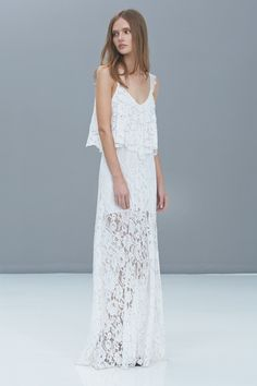 Blake Lace Popover Maxi Dress | HauteLook