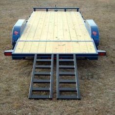 Wood Floor Car Hauler Trailer - Johnson Trailer Co. Car Trailer Ramps, Tilt Trailer, Welding Trailer, Car Hauler Trailer, Free Trailer, Dump Trailers, Trailer Plans, Trailer Build, Teardrop Trailer