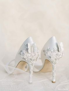 bella belle spring 2021 bridal shoes embellished high heel peep toe pumps (2) bv -- Bella Belle Spring 2021 Bridal Shoes | Wedding Inspirasi #wedding #weddings #bridal #weddingideas #collection:Metamorphosis #label:BellaBelle #season:Spring/Summer #week:112021 #year:2021 ~ Wedge Wedding Shoes, Wedding Pumps, Pretty Shoes, Cute Shoes, Glamorous Wedding, Ivory Wedding, Embellished Heels, Bridal Heels, Princess Ball Gowns
