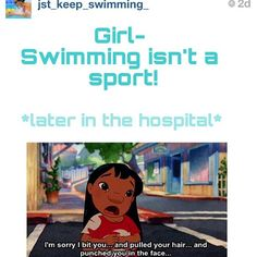 Hey why don't you go dig a whole and all the people who don't think swimming is a sport go jump in it and die!!