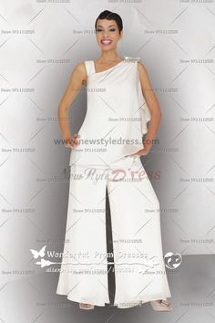 Georgette Two Piece mother of the bride pants suits Summer nmo-062