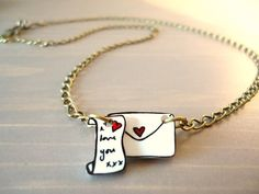 'Love letter' necklace