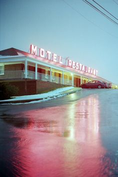 motel, neon signage