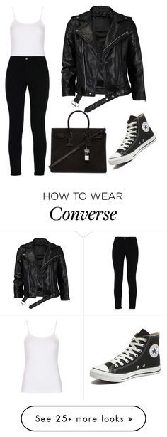 """""""Untitled #2716"""" by outfitstowear on Polyvore featuring Topshop, VIPARO, STELLA McCARTNEY, Converse and Yves Saint Laurent"""