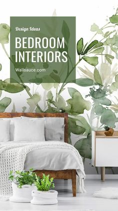 View our range of beautiful bedroom wallpaper murals available at Wallsauce.com. Ranging from pretty florals to luxury dark design, there is something for everyone to completely transform their bedroom. Available in 3 paper choices, classic, premium past the wall and self adhesive peel and stick, we offer quality murals with fast delivery worldwide! Discover the collection now at Wallsauce.com by clicking on the image. #homedecor #bedroomdecor #bedroominspo #bedroomdesign #wallpaperinspo… Bedroom Wallpaper Murals, Wall Wallpaper, White Bedroom Decor, White Decor, Sage Green Wallpaper, White Bedding, Minimalist Bedroom, Beautiful Bedrooms, Dream Bedroom