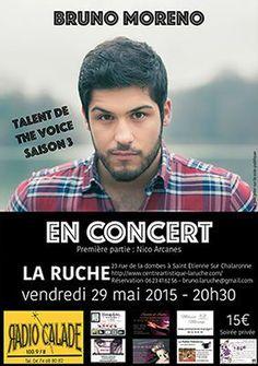 affiche Concert de Bruno Moreno le 29 mai 2015 à La Ruche à St Etienne Sur/Chalaronne