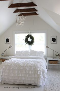 Skies of Parchment - The Cottage at 341 South | An Attic Bedroom (Before and After) | http://skiesofparchment.com