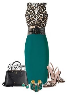 A fashion look from March 2014 featuring Roberto Cavalli tops, Giambattista Valli pumps y Prada handbags. Browse and shop related looks. Work Fashion, Daily Fashion, Fashion Looks, Fashion Design, Fashion Trends, Dressy Outfits, Stylish Outfits, Jw Mode, Looks Chic