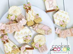 A boho sleepover birthday cookie set. Birthday Cookies, Sleepover, Sugar, Boho, Desserts, Deserts, Bohemian, Dessert, Birthday Brownies