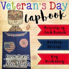 Want to share the meaning of Veterans Day with your students in an appropriate and engaging way? This Veterans Day Lapbook activity is just what you need. The lapbook covers history and declaration of this special day, military branches minibook, key vocabulary, being brave writing, how I can be a hero writing, and matching service men to the way they serve our county.