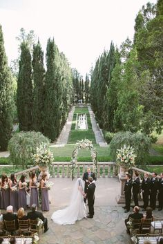 Purple and Ivory Villa Wedding - Inspired By This