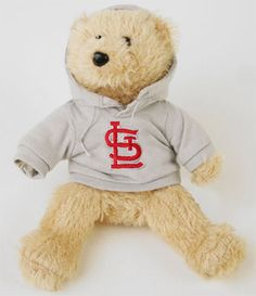 St. Louis Cardinals Fuzzy Hoodie Bear #cardinals #mlb #stlouis
