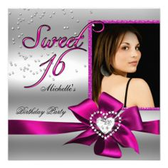 Sweet 16 Sweet Sixteen Pink Silver Photo Announcements today price drop and special promotion. Get The best buyDiscount Dealslowest price Fast Shipping and save your money Now!!...