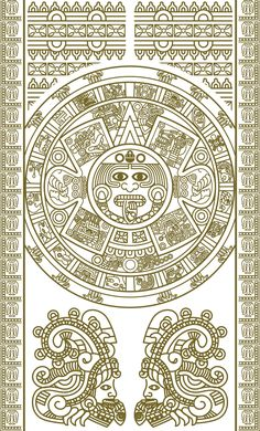 free vector Mayan patterns 02 vector