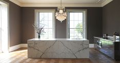 Looking for bespoke kitchens? This listed house fuses modern and traditional. See more design ideas on HOUSE by House & Garden. Best Kitchen Designs, Modern Kitchen Design, Bespoke Kitchens, Luxury Kitchens, Küchen Design, House Design, Interior Design, Marble Countertops, Kitchen Countertops