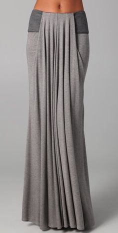 Doo.Ri Long Draped Skirt with Leather Trim for something different. Would have to try it though
