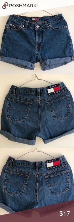 TOMMY JEAN SHORTS Sad to let it go. But there is no way I can squeeze my behind from all this weight gain. Great pair of jean shorts. Perfect for the summer! Tommy Hilfiger Shorts Jean Shorts
