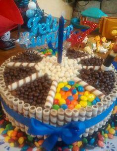 tortas con golosinas - Buscar con Google Candy Cakes, Marshmallow, Gingerbread, Birthday Cake, Xmas, Baking, Amelia, Ranger, Food