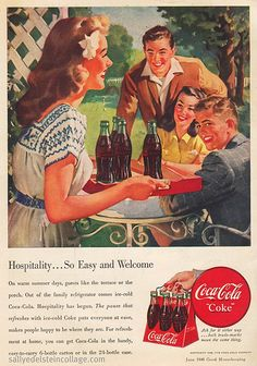 Coke Ad 1948...I totally have some of these...need to get them framed!