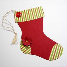 easy to craft traditional stocking gift card holder using SU's Stocking die by Sizzix.