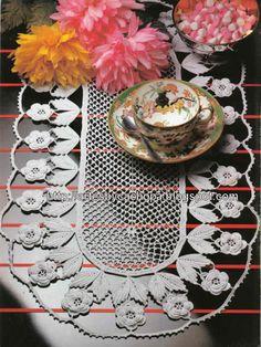 Artes by Cachopa - Croche & Trico: Centrinho de mesa Oval