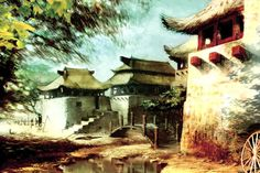 The original Guild Wars is celebrating its anniversary with a brand new update Concept Art Gallery, Asian Architecture, Guild Wars 2, Fantasy Art Landscapes, Cityscape Art, L5r, Visual Aids, 10 Anniversary, Fantasy Inspiration
